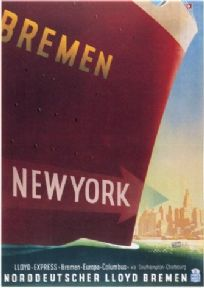 Bremen-New York. Vintage shipping poster
